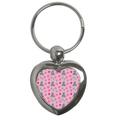 Green Dress Pink Key Chains (heart)  by snowwhitegirl