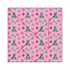 Green Dress Pink Acrylic Tangram Puzzle (6  X 6 ) by snowwhitegirl