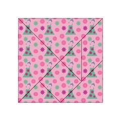 Green Dress Pink Acrylic Tangram Puzzle (4  X 4 ) by snowwhitegirl