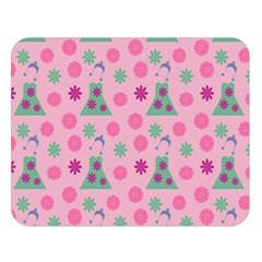 Green Dress Pink Double Sided Flano Blanket (large)  by snowwhitegirl