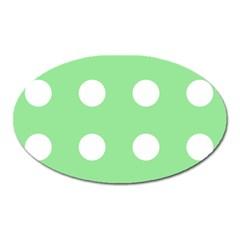 Lime Dot Oval Magnet