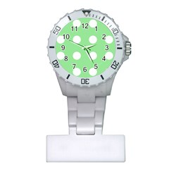 Lime Dot Plastic Nurses Watch by snowwhitegirl