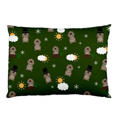 Groundhog Day Pattern Pillow Case by Valentinaart