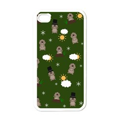 Groundhog Day Pattern Apple Iphone 4 Case (white) by Valentinaart