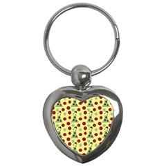 Green Dress Yellow Key Chains (heart)  by snowwhitegirl