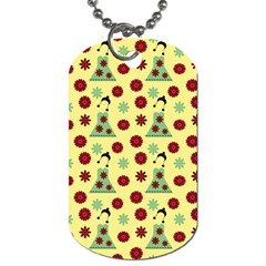 Green Dress Yellow Dog Tag (two Sides) by snowwhitegirl