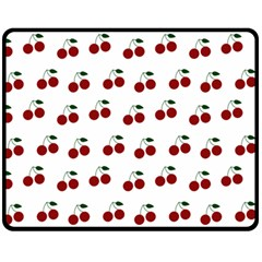 Cherries Fleece Blanket (medium)  by snowwhitegirl