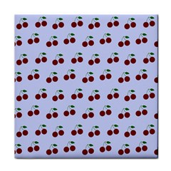 Blue Cherries Face Towel by snowwhitegirl