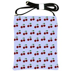 Blue Cherries Shoulder Sling Bags by snowwhitegirl