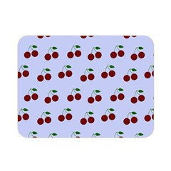 Blue Cherries Double Sided Flano Blanket (mini)  by snowwhitegirl