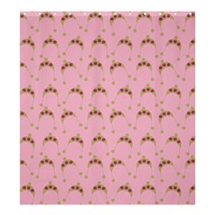 Pink Beige Hats Shower Curtain 66  X 72  (large)  by snowwhitegirl