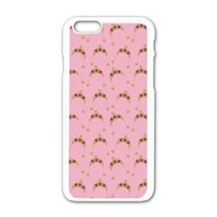 Pink Beige Hats Apple Iphone 6/6s White Enamel Case by snowwhitegirl