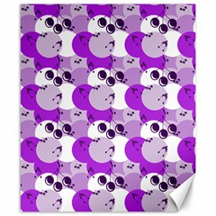 Purple Cherry Dots Canvas 8  X 10  by snowwhitegirl