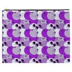 Purple Cherry Dots Cosmetic Bag (xxxl)  by snowwhitegirl