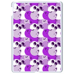 Purple Cherry Dots Apple Ipad Pro 9 7   White Seamless Case by snowwhitegirl