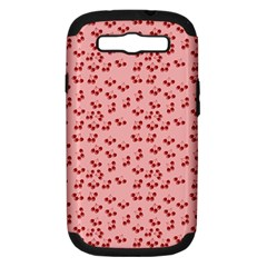 Rose Cherries Samsung Galaxy S Iii Hardshell Case (pc+silicone) by snowwhitegirl