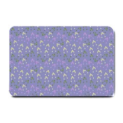 Winter Hats Blue Small Doormat  by snowwhitegirl