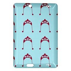 Blue Flower Red Hat Amazon Kindle Fire Hd (2013) Hardshell Case by snowwhitegirl