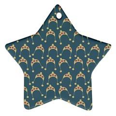 Teal Beige Hats Star Ornament (two Sides) by snowwhitegirl