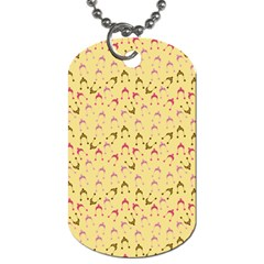 Hats Pink Beige Dog Tag (two Sides) by snowwhitegirl