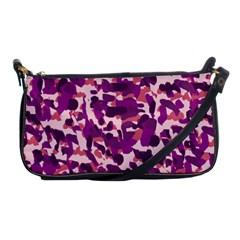 Pink Camo Shoulder Clutch Bags by snowwhitegirl