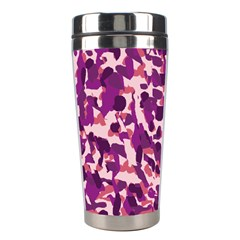 Pink Camo Stainless Steel Travel Tumblers by snowwhitegirl