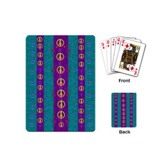 Peace Be With Us This Wonderful Year In True Love Playing Cards (mini)  by pepitasart