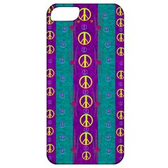 Peace Be With Us This Wonderful Year In True Love Apple Iphone 5 Classic Hardshell Case by pepitasart