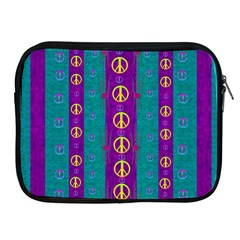 Peace Be With Us This Wonderful Year In True Love Apple Ipad 2/3/4 Zipper Cases by pepitasart