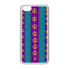 Peace Be With Us This Wonderful Year In True Love Apple Iphone 5c Seamless Case (white) by pepitasart