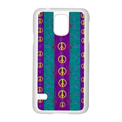 Peace Be With Us This Wonderful Year In True Love Samsung Galaxy S5 Case (white) by pepitasart