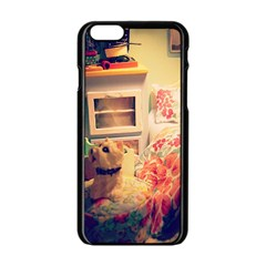 Cream Dollhouse Apple Iphone 6/6s Black Enamel Case by snowwhitegirl