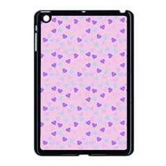 Blue Pink Hearts Apple Ipad Mini Case (black) by snowwhitegirl