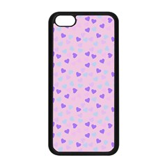 Blue Pink Hearts Apple Iphone 5c Seamless Case (black) by snowwhitegirl