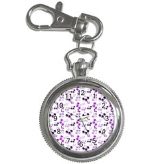 Purple Cherries Key Chain Watches by snowwhitegirl