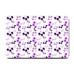 Purple Cherries Small Doormat  by snowwhitegirl
