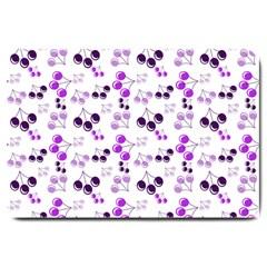 Purple Cherries Large Doormat  by snowwhitegirl
