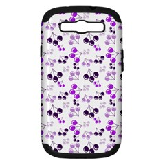Purple Cherries Samsung Galaxy S Iii Hardshell Case (pc+silicone) by snowwhitegirl