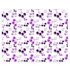Purple Cherries Double Sided Flano Blanket (medium)  by snowwhitegirl