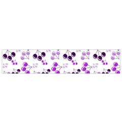 Purple Cherries Small Flano Scarf by snowwhitegirl