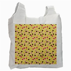 Beige Hearts Recycle Bag (one Side) by snowwhitegirl