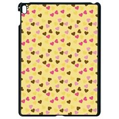 Beige Hearts Apple Ipad Pro 9 7   Black Seamless Case by snowwhitegirl