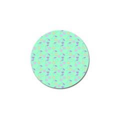 Mint Heart Cherries Golf Ball Marker by snowwhitegirl