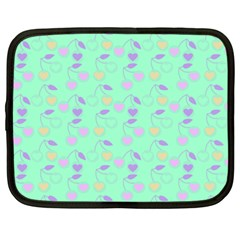 Mint Heart Cherries Netbook Case (large) by snowwhitegirl