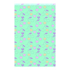 Mint Heart Cherries Shower Curtain 48  X 72  (small)  by snowwhitegirl