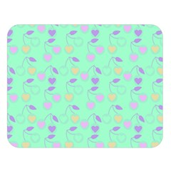 Mint Heart Cherries Double Sided Flano Blanket (large)  by snowwhitegirl