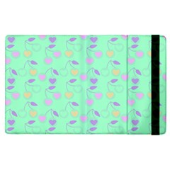 Mint Heart Cherries Apple Ipad Pro 9 7   Flip Case by snowwhitegirl