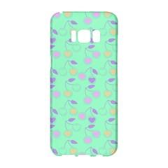 Mint Heart Cherries Samsung Galaxy S8 Hardshell Case  by snowwhitegirl