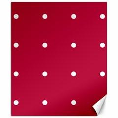 Red Dot Canvas 8  X 10  by snowwhitegirl