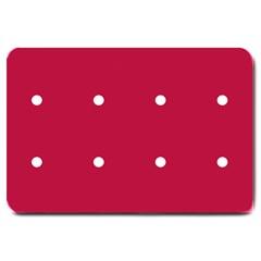 Red Dot Large Doormat  by snowwhitegirl